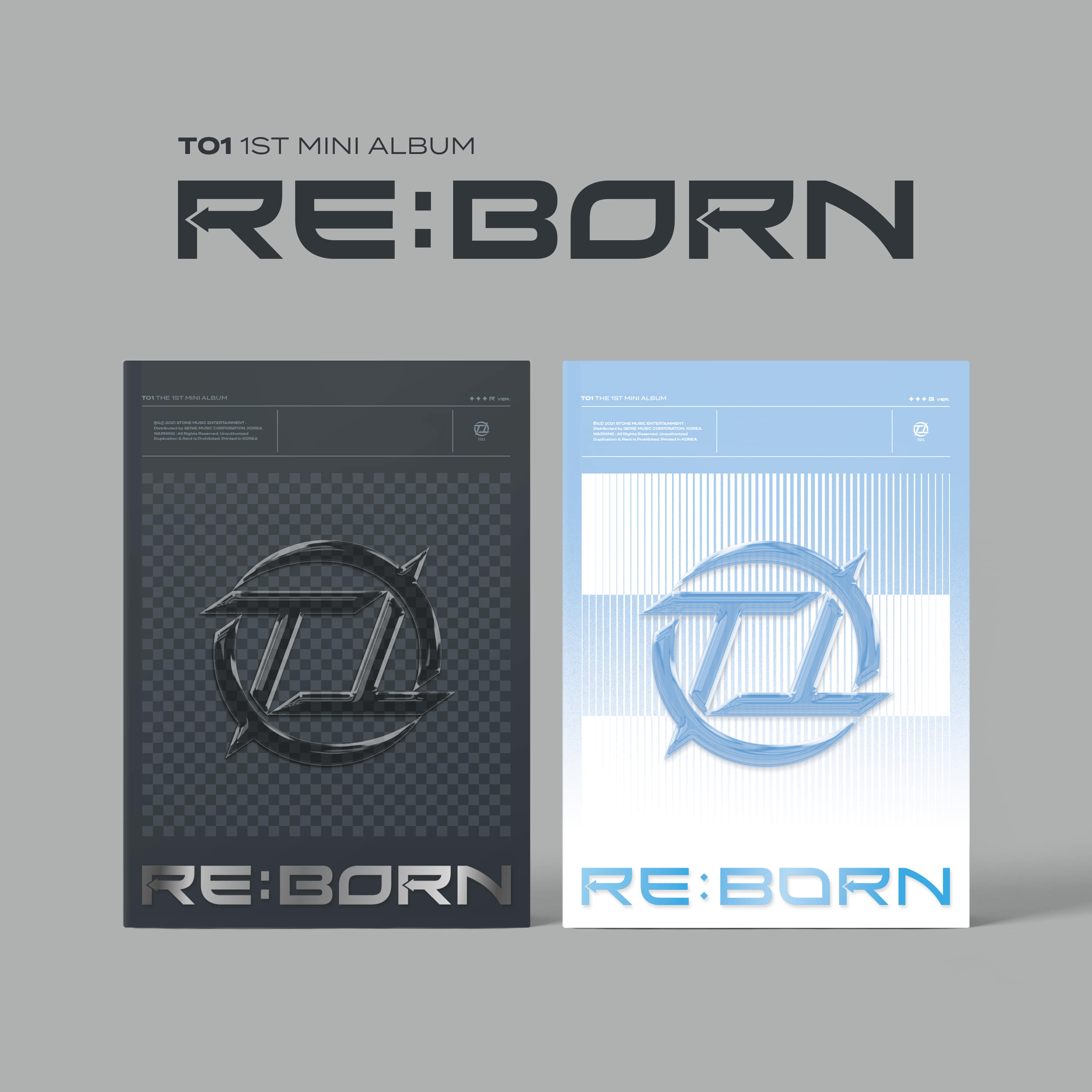 티오원(TO1) - 1st Mini Album [RE:BORN] (R ver. + B ver. = 2CD SET)케이팝스토어(kpop store)